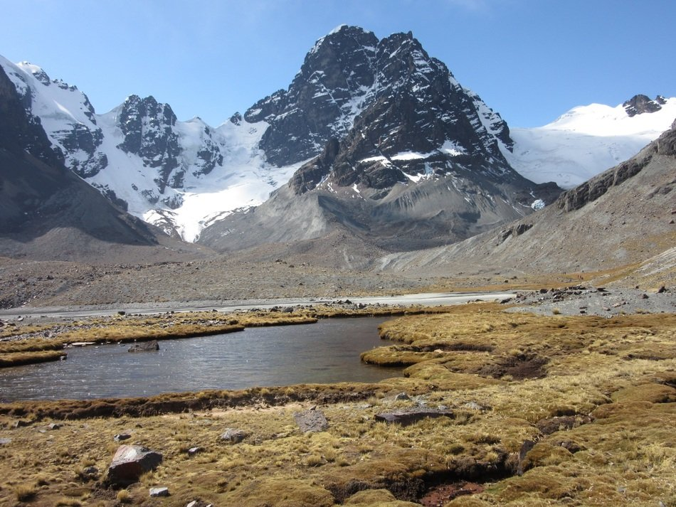 lake Condorini Mountain Bolivia panorama