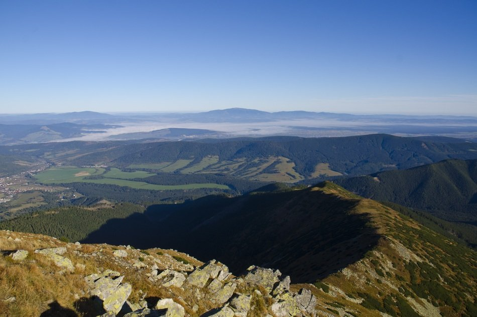 panorama of the western tatras on a sunny day