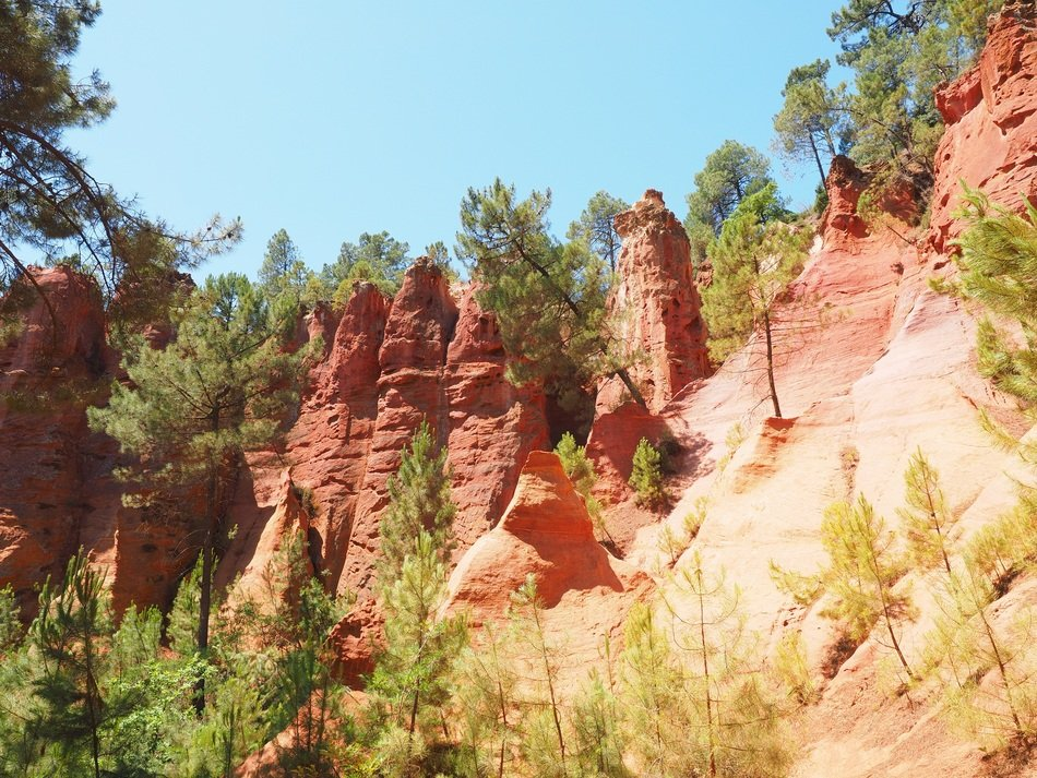 red ochre rocks