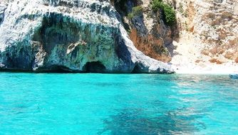 turquoise water off the coast of sardinia