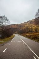 highway along the hills in scotland
