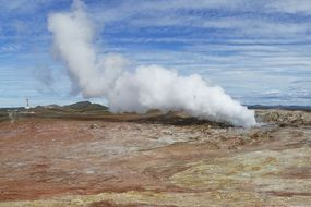 thermal geyser in iceland