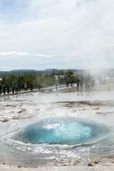 panorama of geysers in iceland