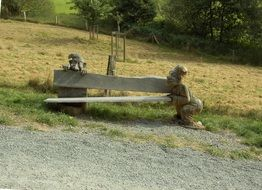 Unusual Wooden Bench nature view
