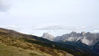 distant view of the dolomites