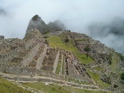 Beautiful landscape of Machu Picchu in Peru