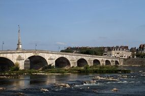 panorama of a stone bridge in loire valley