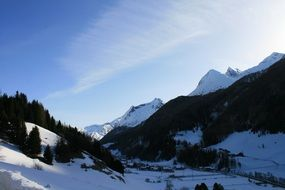 winter in the mountains of central switzerland