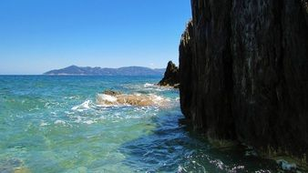 rocky beach in skiathos
