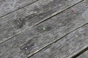 bright candies on wooden boards