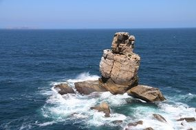 panoramic view of the cliff near the coast of portugal
