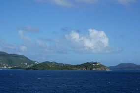 view from the water to the british virgin islands