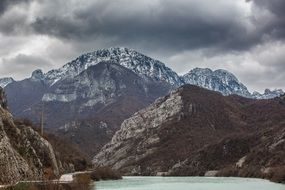 dramatic Mountain in bosnia-herzegovina landscape