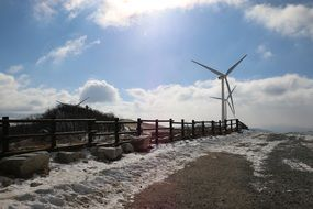 Landscape with the wind power in China