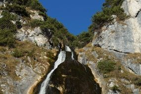 waterfall in the mountains of austrian tyrol