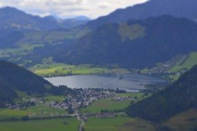Tilt Shift photography of Bergsee