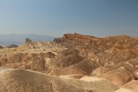 Zabriskie Point located east of Death Valley