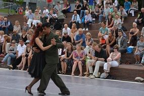 tango on the stage of a street festival in hamburg
