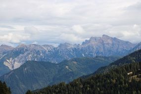 south tyrol italy mountains panorama
