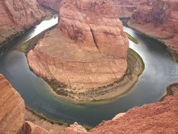 Horseshoe Bend is a horseshoe-shaped incised meander of the Colorado River
