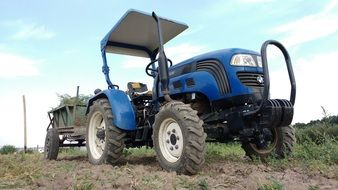 Blue and black Tractor