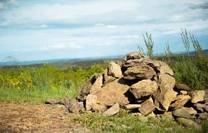 Stones Pile Cairn Stone Hill