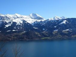 panorama of the picturesque landscape in the old resort interlaken