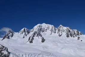 panoramic view of snowy mountain peaks