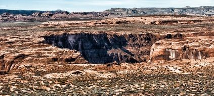 panorama of the tourist site horseshoe bend