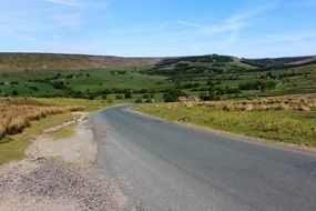 asphalt road to yorkshire moors