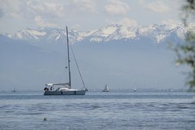 sailboat on lake constance