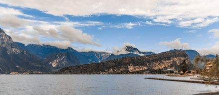 Garda View Lake Italy Mountains