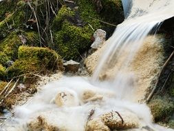 murmur of a small waterfall in Croatia
