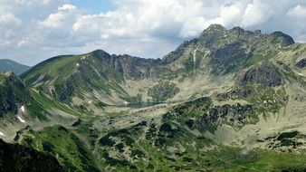 tatry mountains valley view