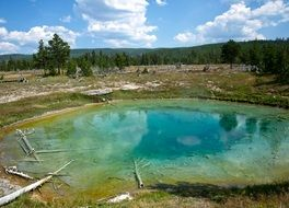 Yellowstone Wyoming blue lake view