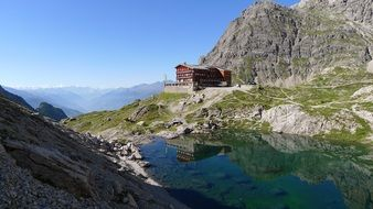 hotel near a lake in the mountains of east tyrol