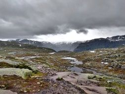 Landscape of the wilderness in Norway