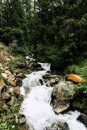 stream in the mountains of south tyrol