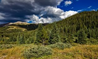 dramatic Colorado Rocky Mountains landscape