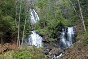panoramic view of anna ruby falls