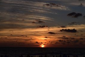 dark Sunset at Sea, usa, Florida, Naples