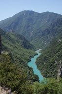 The Verdon Gorge In Southern France