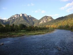 river in Pieniny mountains