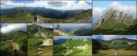 Tatry mountains beautiful pictures collage