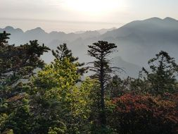 Seoraksan is the highest mountain in the Taebaek mountain range