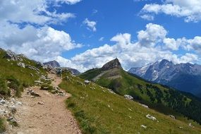 trail over val gardena valley