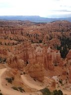 panoramic view of bryce canyon in utah
