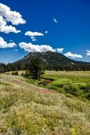 mountain in the national park in Colorado