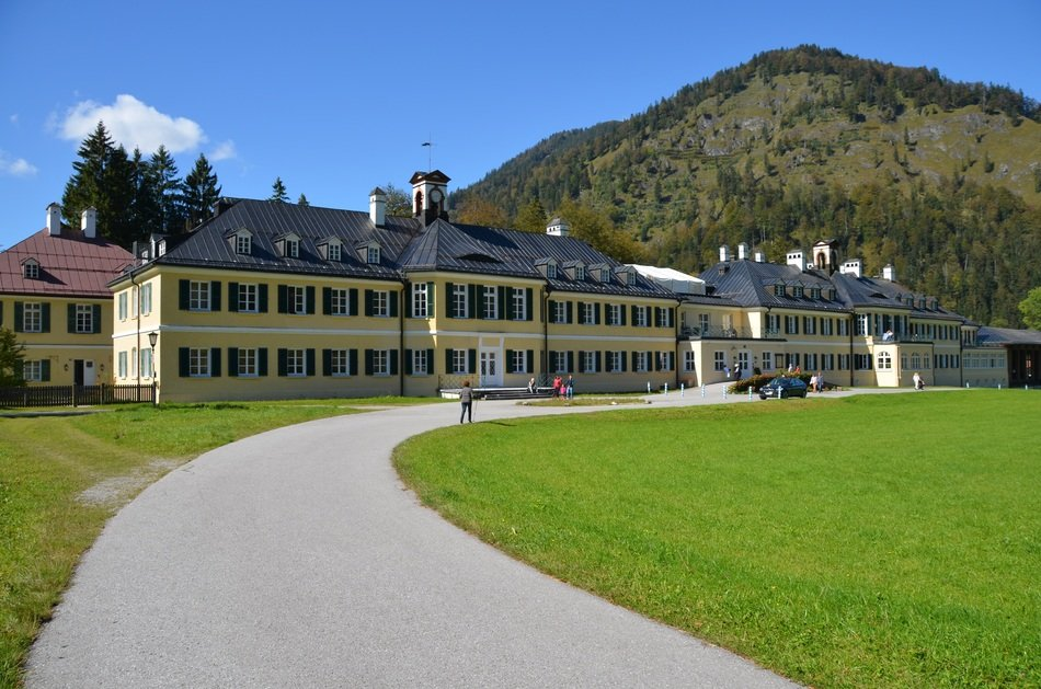 Wildbad Kreuth, buildings at mountain, germany, Tegernsee