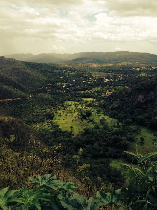panorama of the nature of spain in serra
